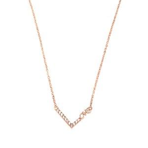 """Κολιέ από ασήμι 925° σε ροζ χρυσό χρώμα με γεωμετρικό σχήμα """"Love"""""""