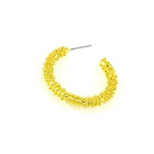 Σκουλαρίκια Κρίκοι Μεταλλικoί Ορειχάλκινοι (Μπρούτζινοι) σε Χρυσό Χρώμα 3,1cm