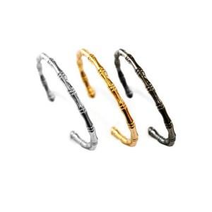 Σετ των τριών Βραχιόλια Μεταλλικά Ορειχάλκινα (Μπρούτζινα) 17,5cm σε Ασημί, Χρυσό & Μαύρο Μεταλλικό Χρώμα