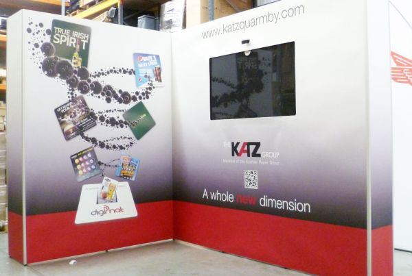 Fabric Exhibition Stand For The Katz Group. Chromatics UK. Sussex.