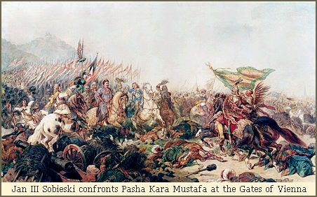 Jan III Sobieski confronts Pasha Kara Mustafa at the Gates of Vienna