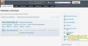 "Seleccione o icone ""Servershield by CloudFlare"" à direita do painel"