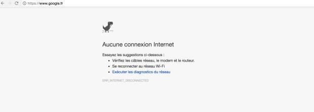 Le jeu du dinosaure est désormais disponible à n'importe quel moment sur Chrome