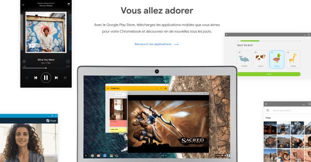 Google Chromebook : la page officielle se refait une beauté !