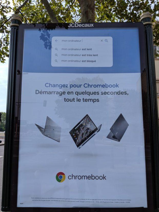 Google lance une campagne d'affichage sur les Chromebooks en France !