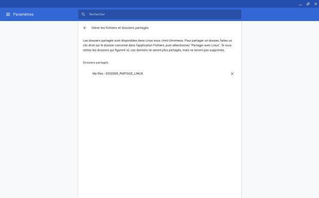 Astuces : partager un dossier Chrome OS avec Linux !