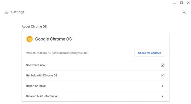 Les releases notes seront directement présentes dans Chrome OS !