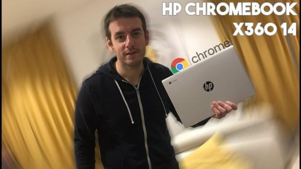 Test vidéo du HP Chromebook x360 14 sur Tech Live