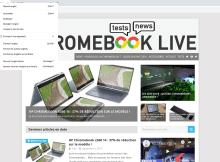 Chrome - Partage de l'onglet Chromebook Live