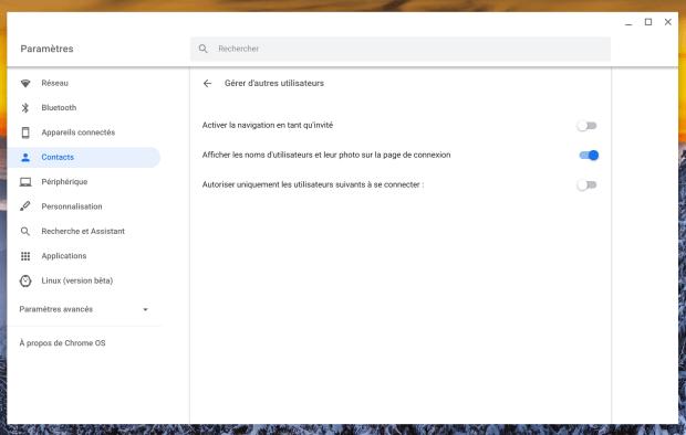 Chromebook : comment désactiver le mode invité ?