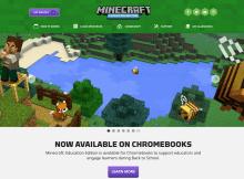 La version éducation de Minecraft est disponible pour Chromebook !