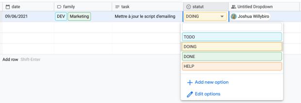 Screenshot d'un cas d'usage