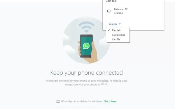 Chromecast Whatsapp