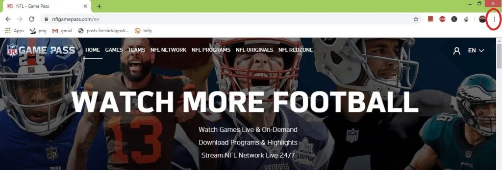 How to Cast NFL Game Pass on Chromecast [2021]