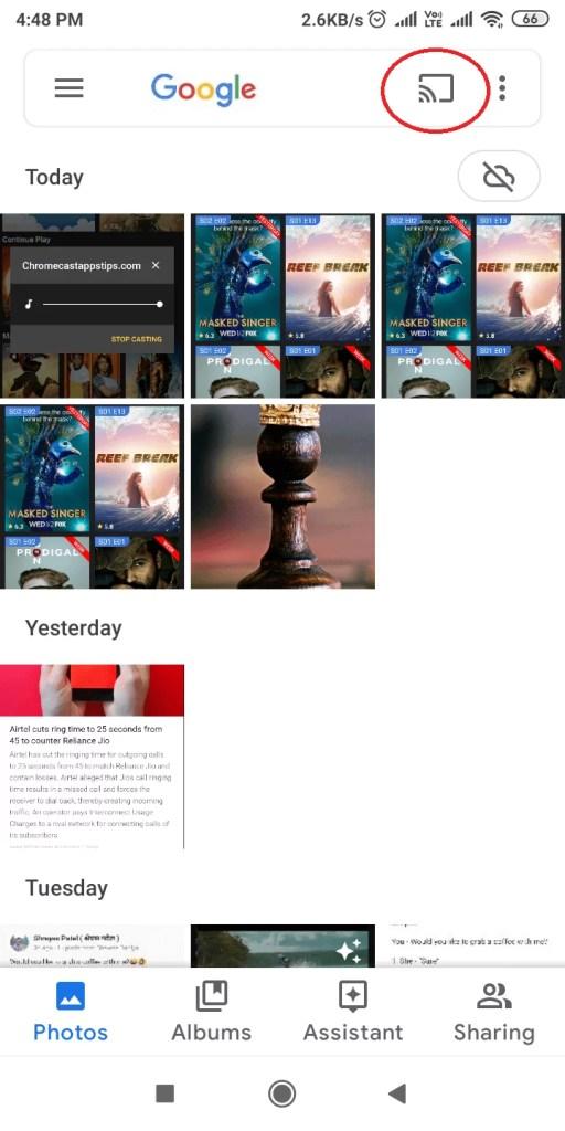 Google Photos on Chromecast