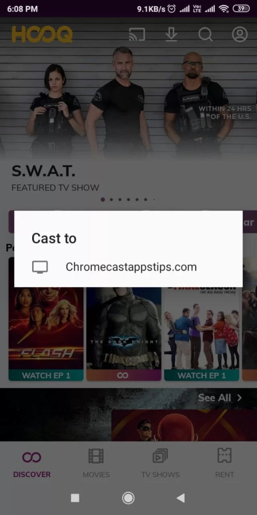 HOOQ on Chromecast