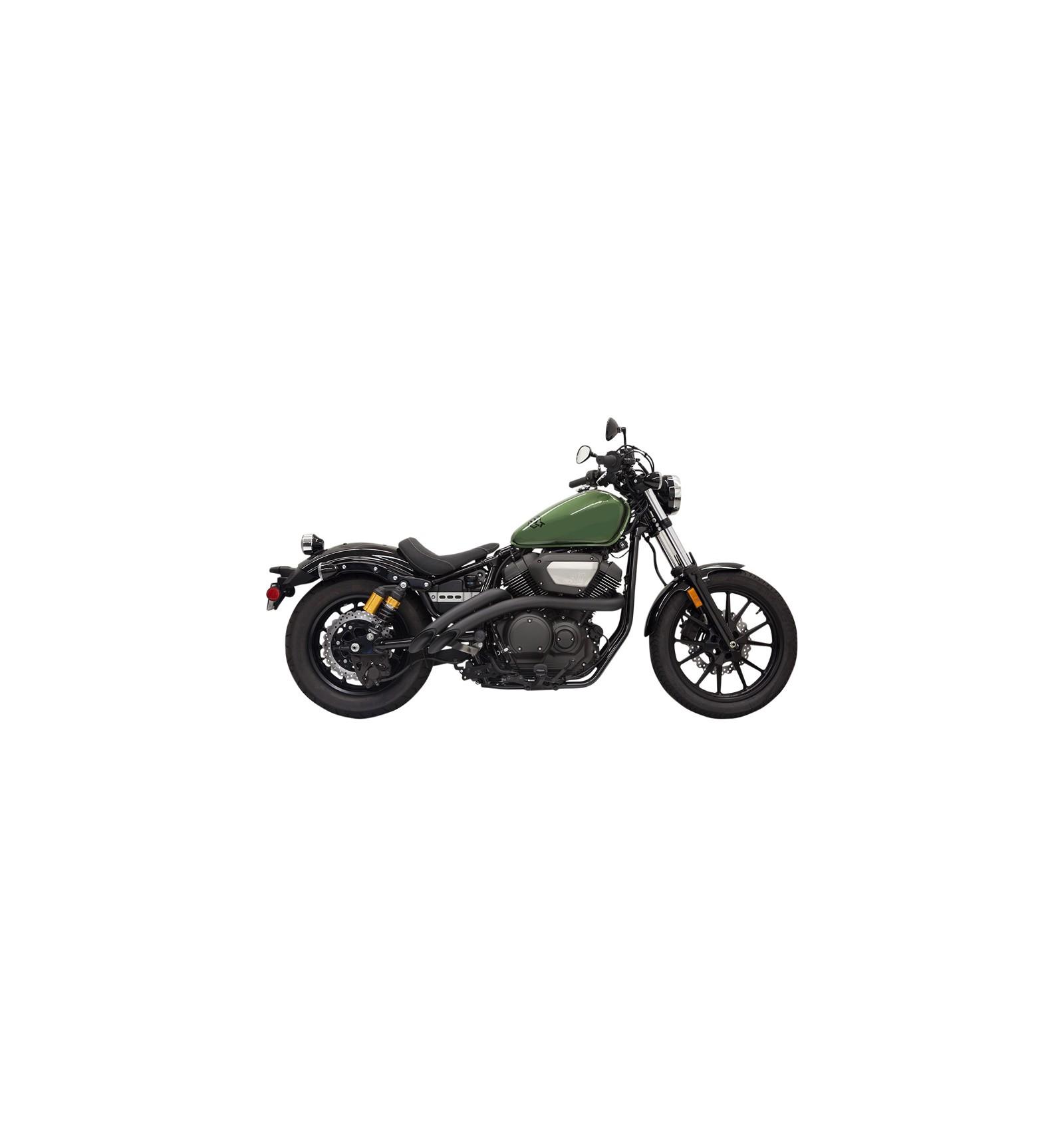 yamaha xv950 r bolt racer bassani xhaust exhaust system radius sweepers black