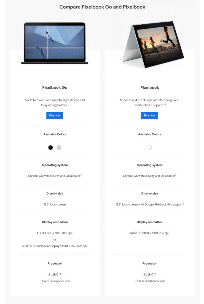 Pixelbook is out of stock on the Google Store 1