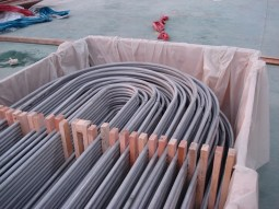 Packing the U bend tubes