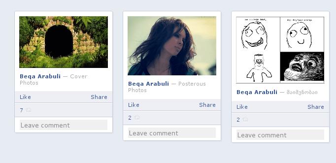Friendsheet: იხილეთ Facebook-ის სურათები კომენტარებით და სათაურებით პანელის მსგავს ინტერფეისში (1/3)