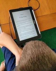 Reading an ebook on a chromebook