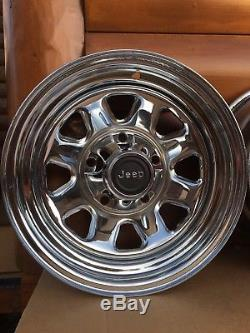 Amc Jeep Cj5 Cj7 Cj8 Factory Chrome Laredo Wheels Rims