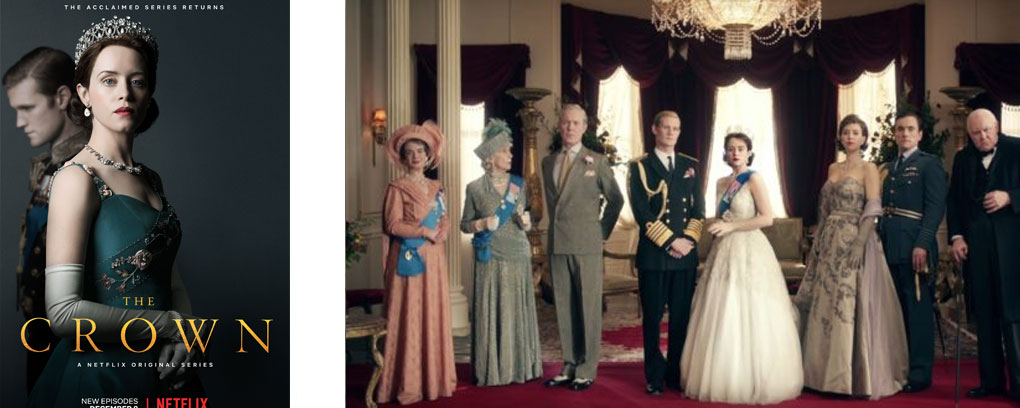 4 séries sur la royauté anglaise - the crown