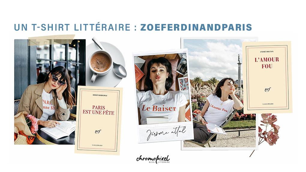 10 idées de cadeau pour les amoureux des livres Un t-shirt littéraire de chez Zoé Ferdinand Paris
