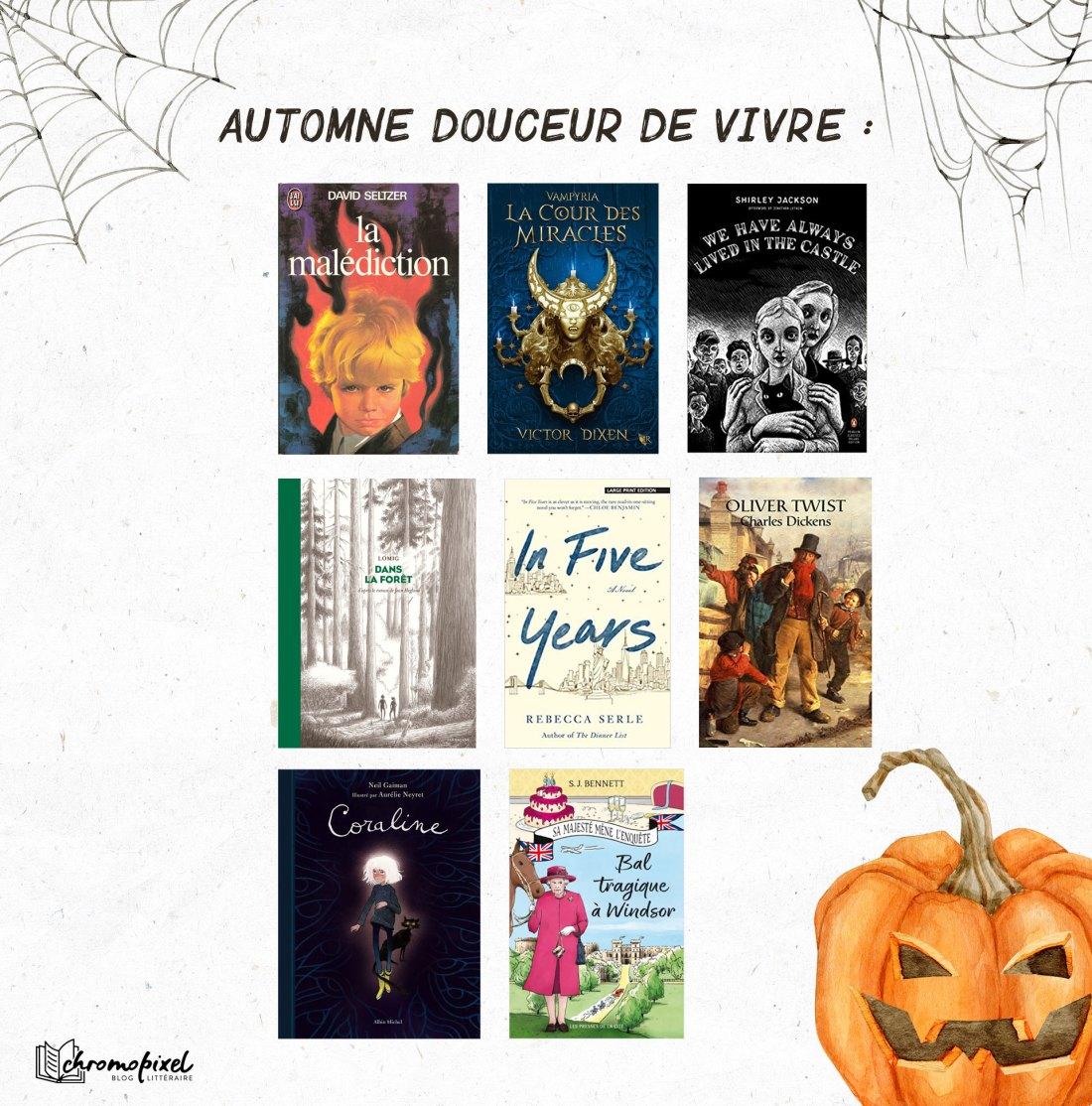 Pumpkin Autumn Challenge 2021 : Ma Pile à Lire - Automne Douceur de vivre :
