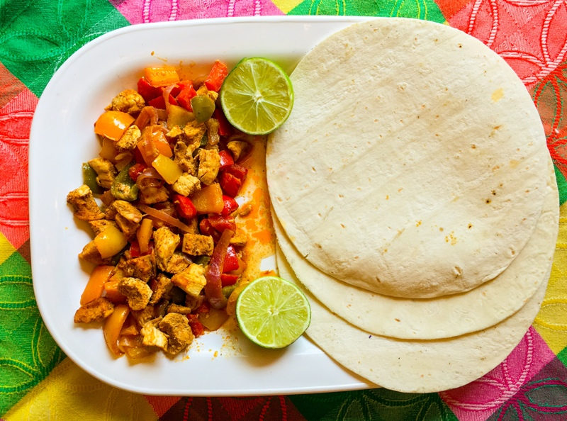 Rainbow Chicken Fajitas – Organic, Gluten Free & Dairy Free