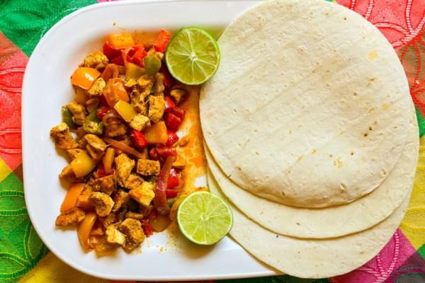 GF DF Rainbow Chicken Fajitas - Chronically Gluten Free