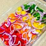 Step 1 Rainbow Chicken Fajitas - Chronically Gluten Free