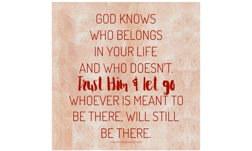 Trust Him and let go