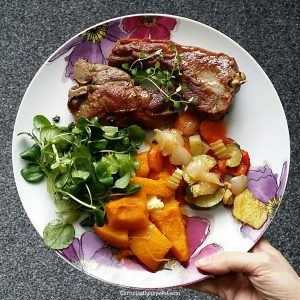 lamb chops roast veg