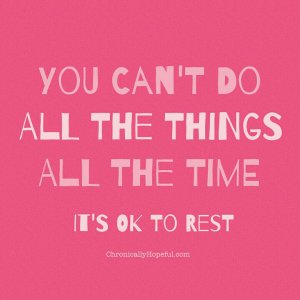its okay to rest