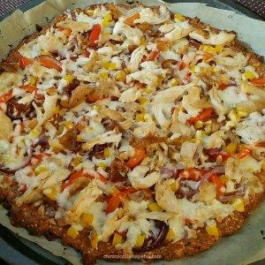 Chicken keto pizza