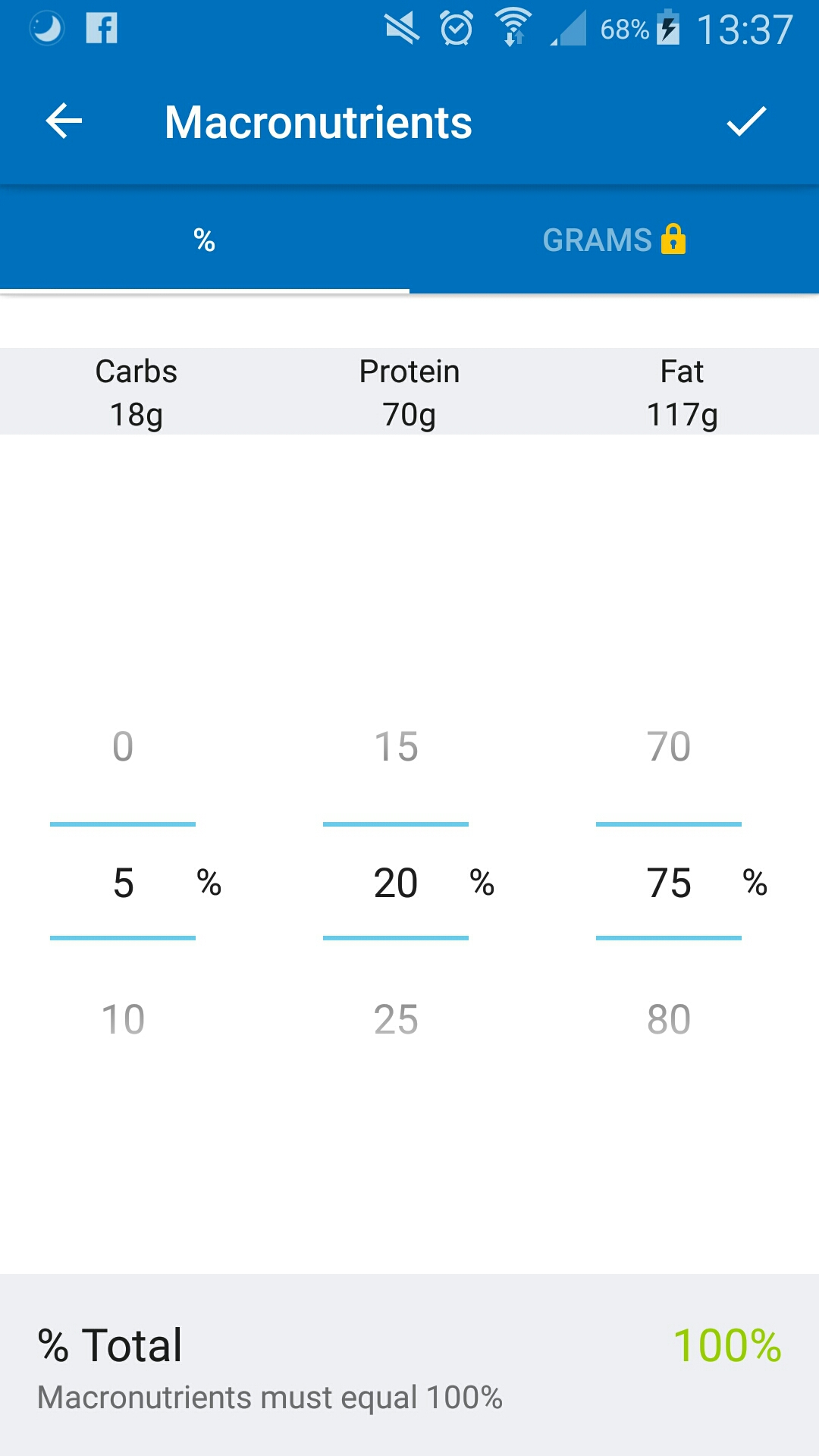 MFP macro settings