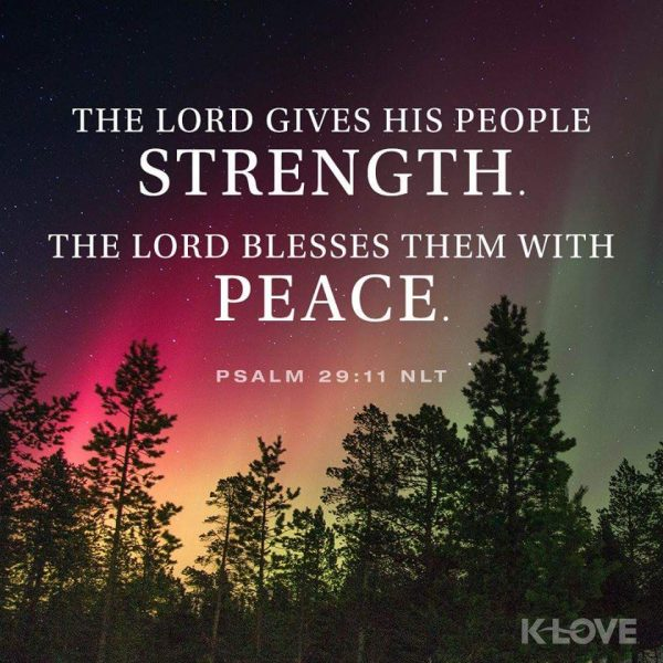 The Lord gives strength and peace