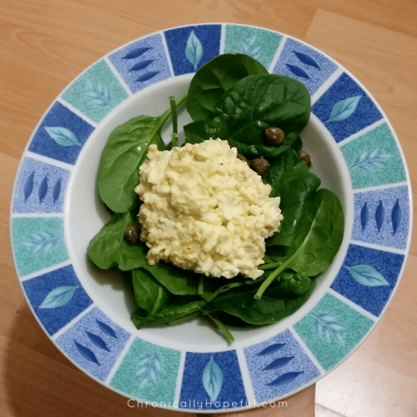 Egg and Mayo on Spinach