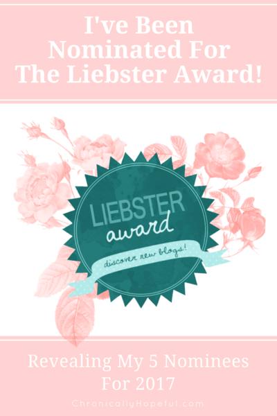 My First Liebster Award 2017