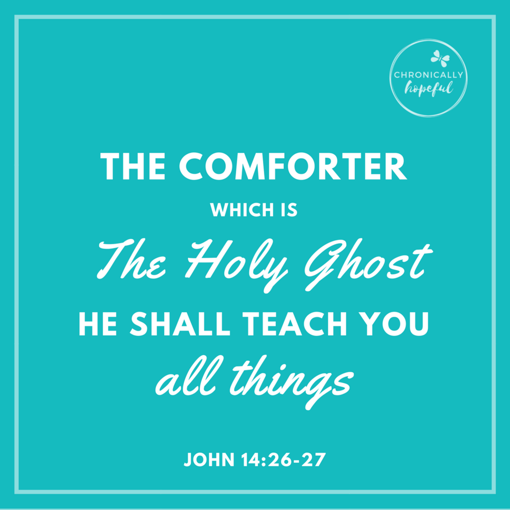 John 14v26-27 The Comforter, Holy Ghost will teach you VERSE