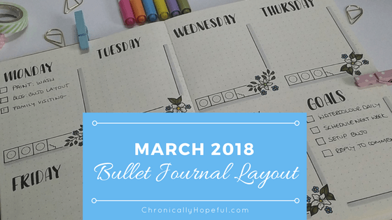 March 2018 Bujo layout BLOG