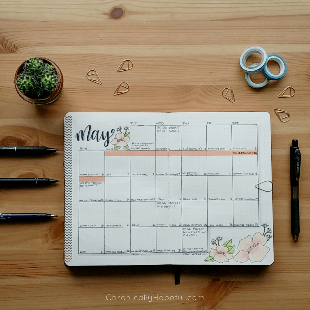 Bullet Journal, May 2018 Monthly Spread