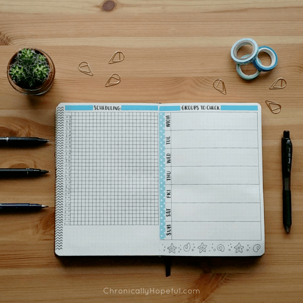 Bujo Social Media Trackers Chronically Hopeful