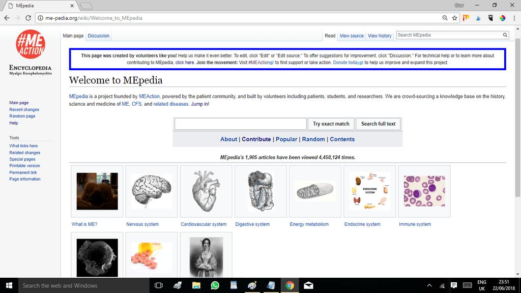 ME-pedia Home page