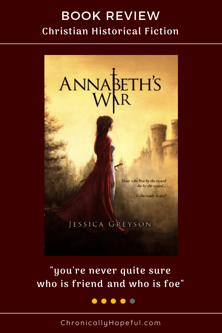 Annabeth's War by Jessica Greyson, Book Review, Chronically Hopeful. Christian Historical Fiction