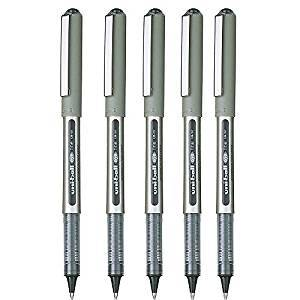A set of 5 Uni-ball Eye Pens