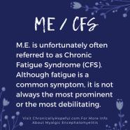 M.E. or CFS?