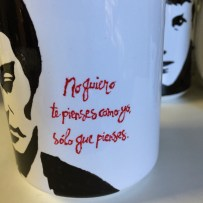 Frida Kahlo - Hand painted mug from Sconnie Life on Etsy.