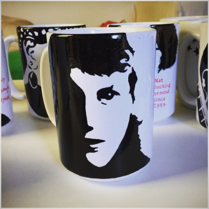 Sylvia Plath Hand painted mug from Sconnie Life on Etsy.